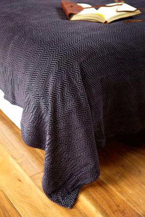 Chenille Zig Zag Throw
