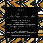 PAST EVENT | South African Culinary Safari