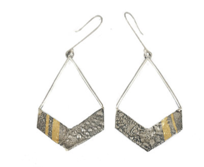 Keum-Boo Chevron Earrings