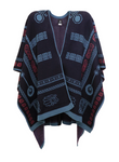 Muan Anau poncho in 100% organic cotton. Made in Mexico.
