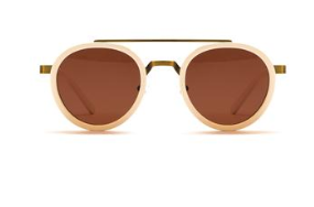Enki Spheres sunglasses in bone with copper lenses