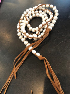 #4 Tess Medium White Pearl Necklace