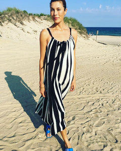 X Dress with Ikat Stripe by Two New York