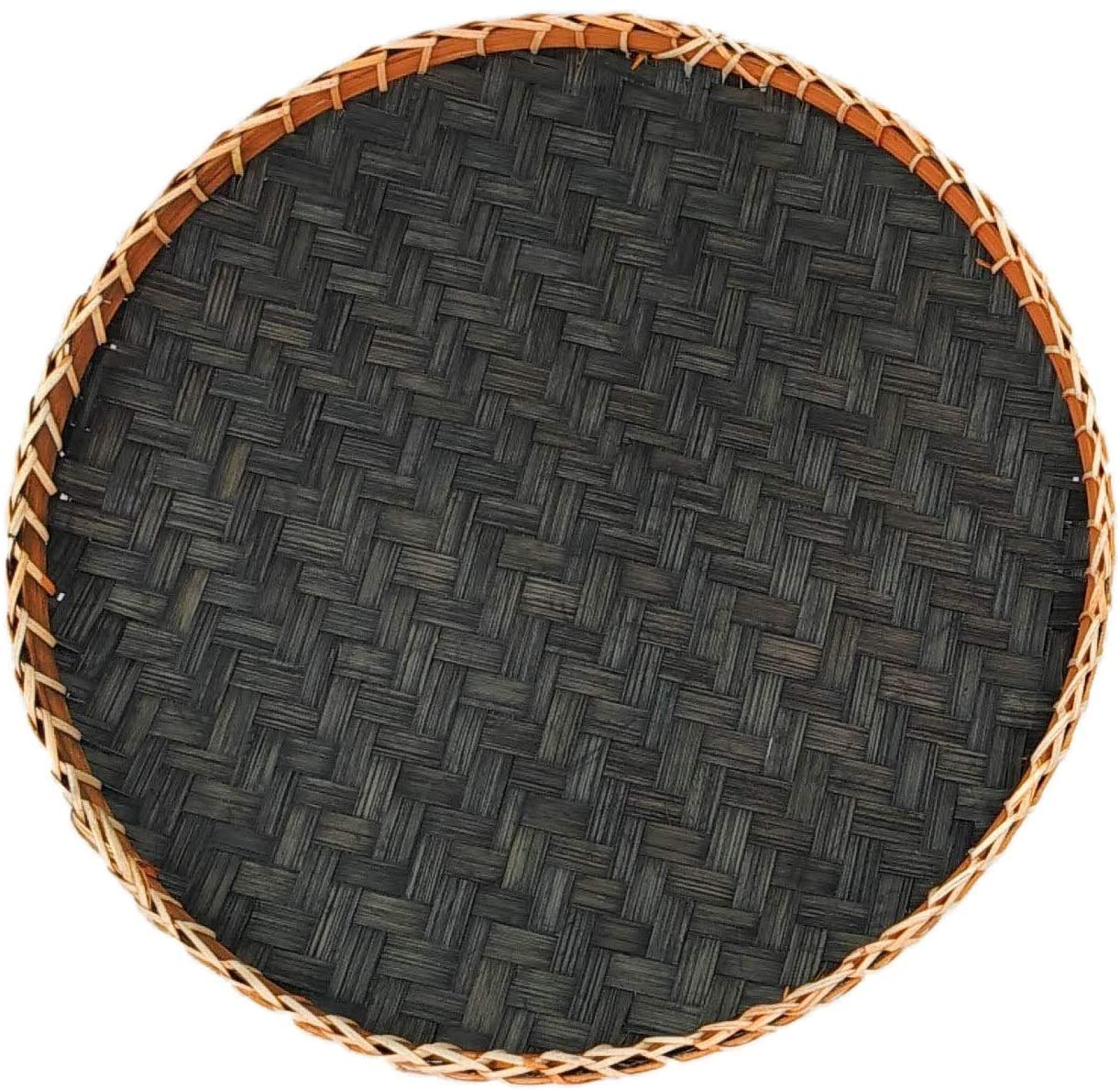 Round Serving Tray - Black