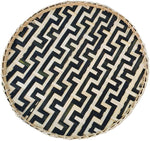 Round Serving Tray - Black Snake