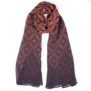 Chocolate & Rust Diamond Fade Scarf