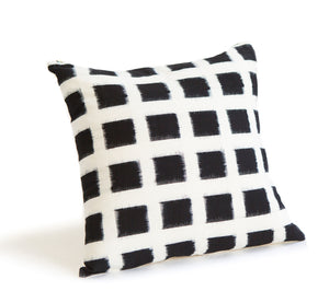 Ikat Checked Throw Pillow