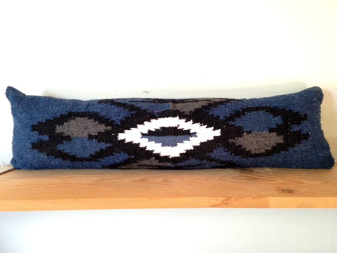 Diamond Blue / White Bolster by Nomad Chic