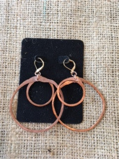 MEX Hoop Earrings by Leather Girl Kelley