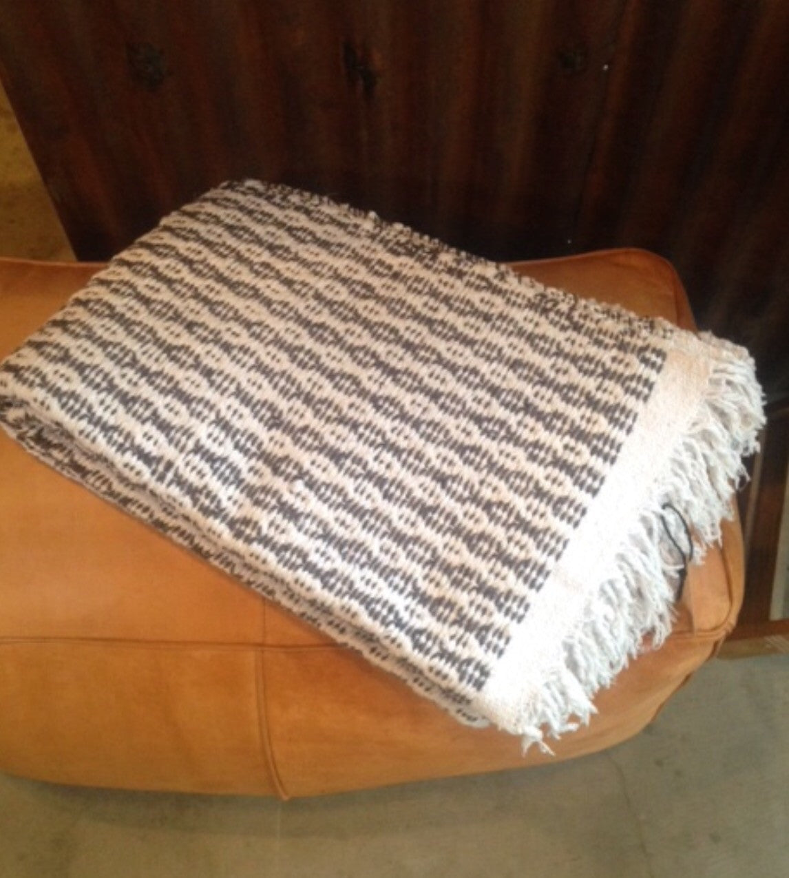 San Felipe Blanket - Diamond/Stripe - Grey