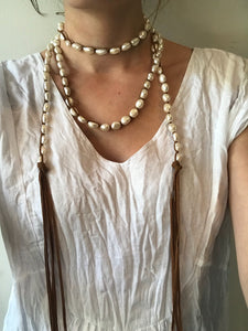 #5 Medium White Pearl Necklace