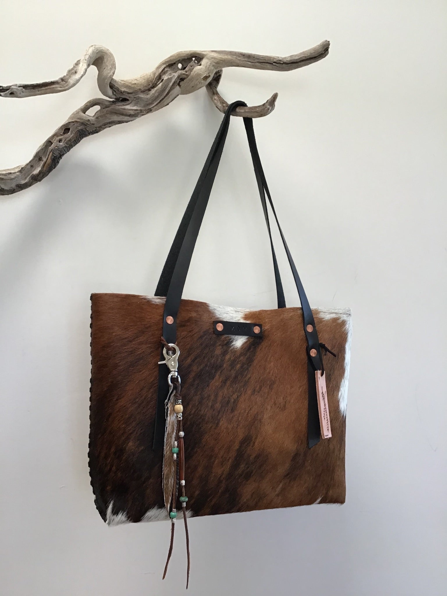 #238 Brown Spotted Hair on Hide Tote