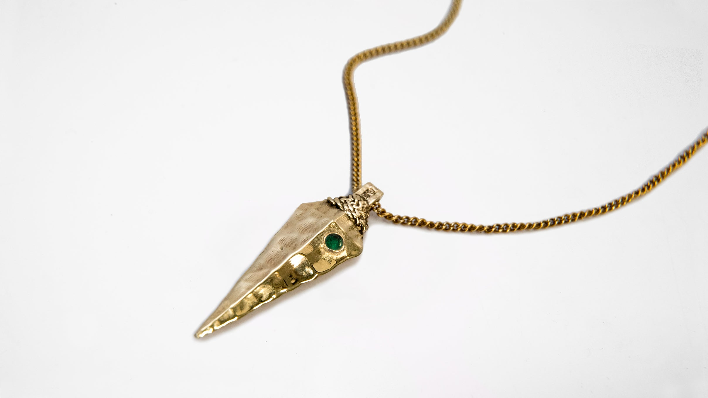 Kaxil Emerald Gold Necklace