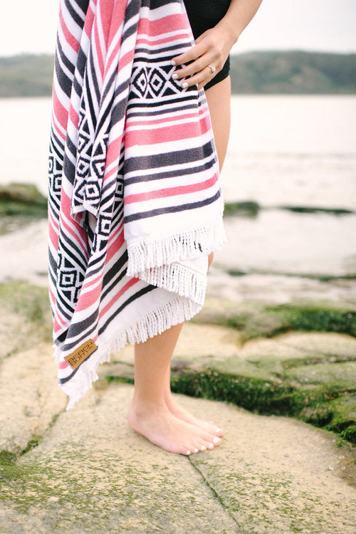 Coral Beach Towel by Beach Bum Towel Co.