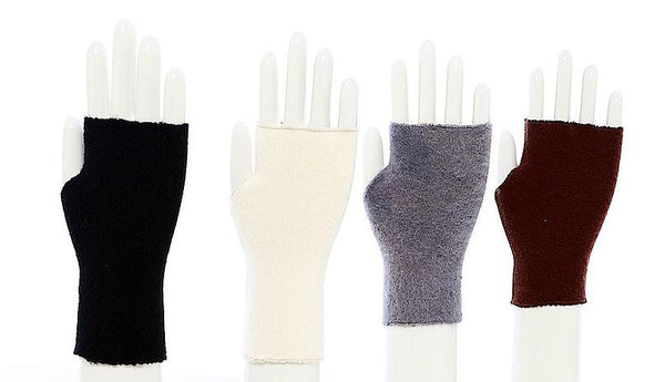 Recycled Cashmere Fingerless Lynn Gloves by RYEP