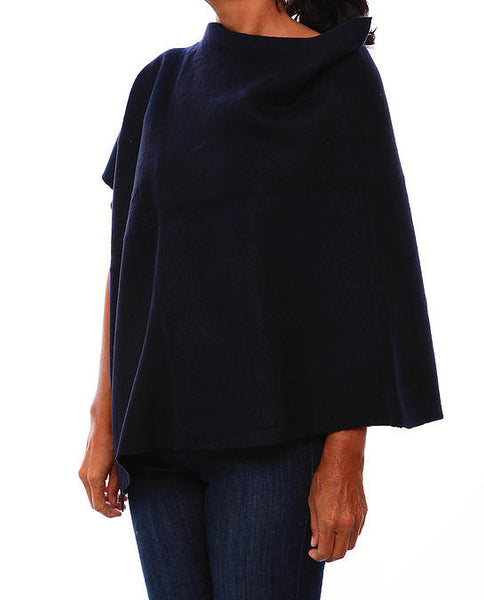 Recycled Cashmere Poncho by RYEP