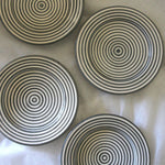 Bullseye Appetizer Plates (Set of 4)