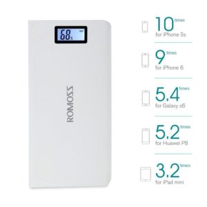 20,000mah White Power Bank