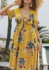 Hot Sale Summer V Neck Print Dress
