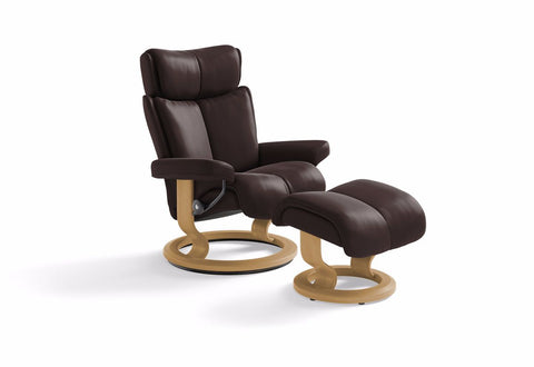 Magic Large Classic Recliner & Ottoman (Stressless by Ekornes)