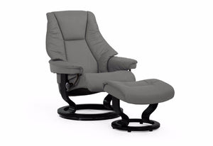 Live Medium Classic Recliner & Ottoman (Stressless by Ekornes)