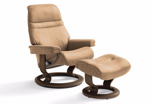 Sunrise Medium Classic Recliner & Ottoman (Stressless by Ekornes)