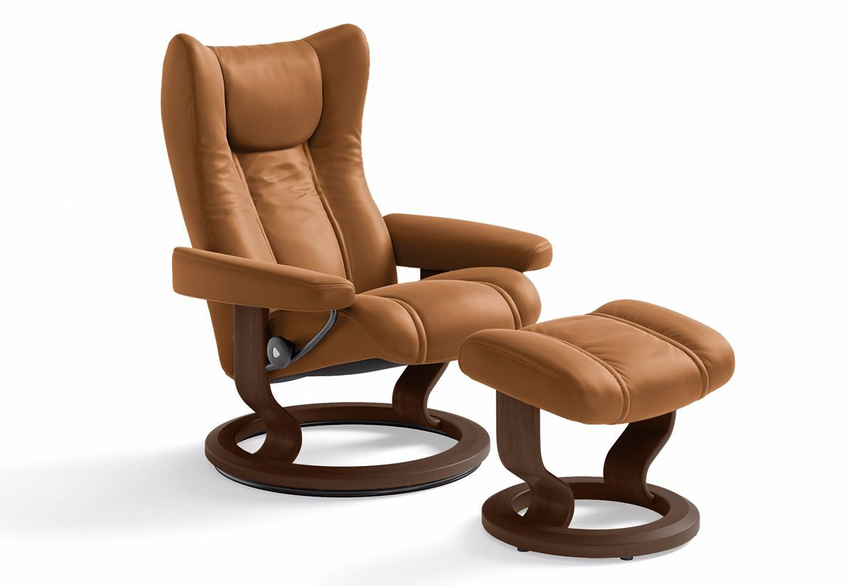 Wing (S) Recliner & Ottoman w/ Classic Base (Stressless by Ekornes)