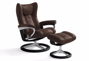 Wing Large Leg Comfort Recliner & Ottoman (Stressless by Ekornes)