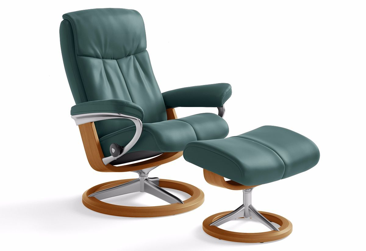 Peace Medium Signature Recliner & Ottoman (Stressless by Ekornes)