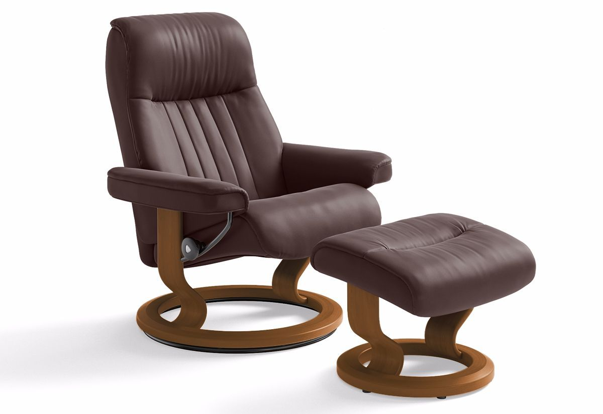 Crown Large Classic Recliner U0026 Ottoman (Stressless By Ekornes)