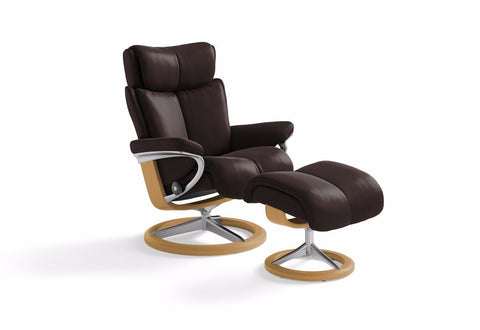 Magic Small Signature Recliner & Ottoman (Stressless by Ekornes)