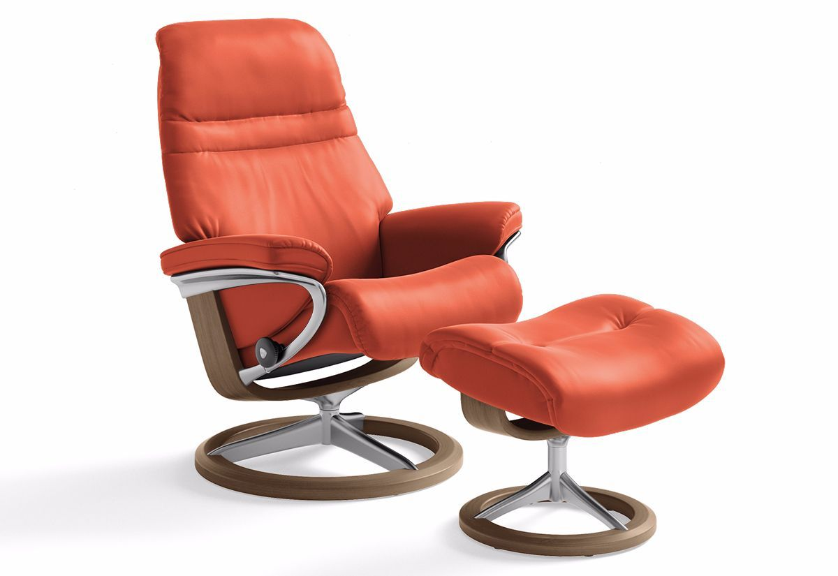 Sunrise Medium Signature Recliner Ottoman Stressless By Ekornes