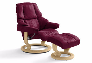 Reno Medium Leg Comfort Recliner & Ottoman (Stressless by Ekornes)