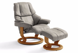 Reno Large Classic Recliner & Ottoman (Stressless by Ekornes)