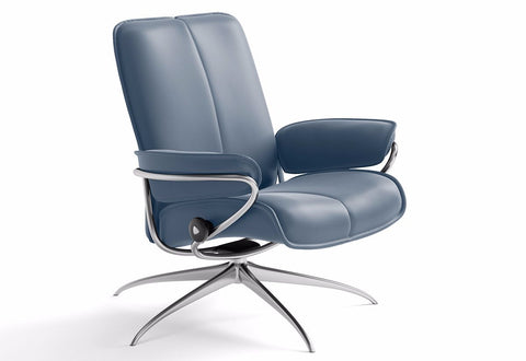 City Medium Low Back High Base Recliner (Stressless by Ekornes)