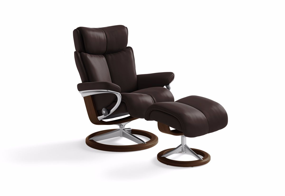 Magic Medium Signature Recliner & Ottoman (Stressless by Ekornes)