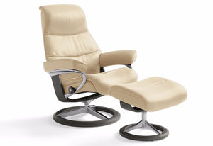 View Large Signature Recliner & Ottoman (Stressless by Ekornes)