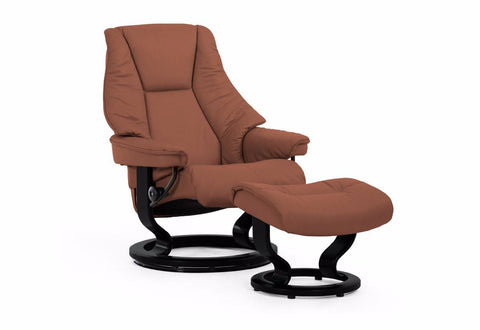 Live Small Classic Recliner & Ottoman (Stressless by Ekornes)