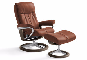 Peace Large Signature Recliner & Ottoman (Stressless by Ekornes)