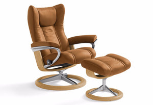 Wing Large Signature Recliner & Ottoman (Stressless by Ekornes)