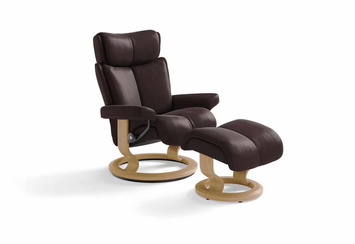 ... Magic (L) Recliner u0026 Ottoman w/ Classic Base (Stressless by Ekornes) ...  sc 1 st  Recliners.la & Magic (L) Recliner u0026 Ottoman w/ Classic Base (Stressless by ... islam-shia.org