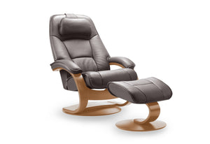 Admiral Recliner & Ottoman (Fjords)
