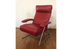 Demi Recliner (Lafer) Cherry Leather