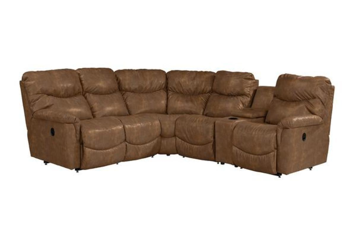 James reclining sectional sofa la z boy reclinersla for Sectional sofas with 4 recliners