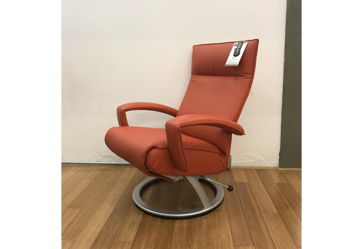 Gaga Recliner (Lafer) Orange Leather