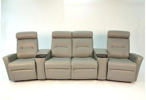 Madrid 4 Seat Reclining Home Theatre (Fjords)