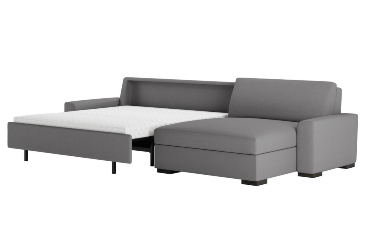 American Leather Olson Premier Sectional Comfort Sleeper Sofa Bed ...
