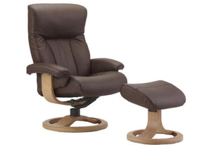 Scandic Recliner & Ottoman (Fjords)