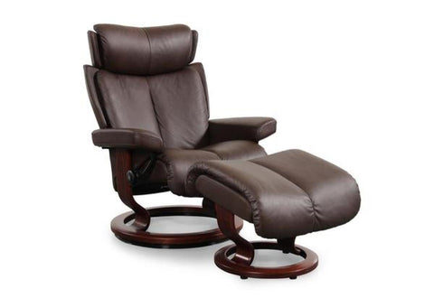 Magic (M) Recliner & Ottoman w/ Classic Base (Stressless by Ekornes)