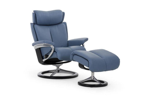 Magic (L) Recliner & Ottoman w/ Signature Base (Stressless by Ekornes)